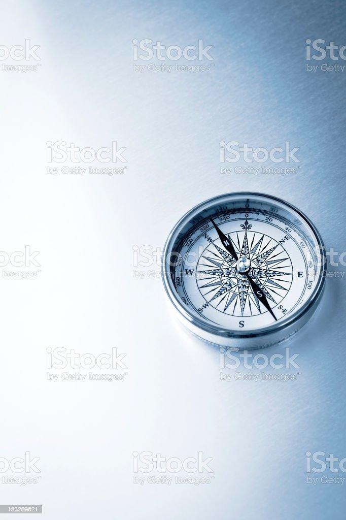 Blue compass stock photo
