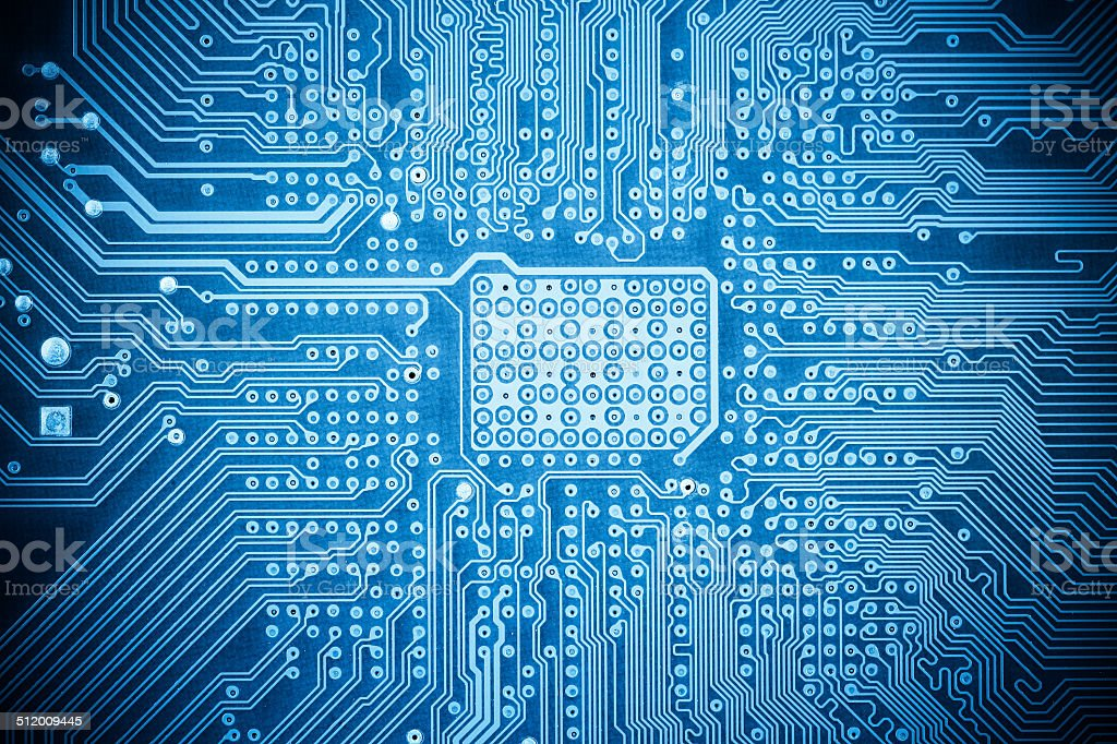 blue computer circuit board texture stock photo