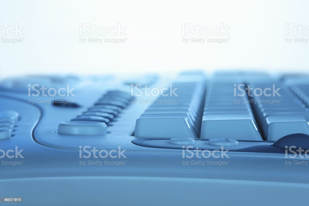 Blue Computer Keyboard royalty-free stock photo