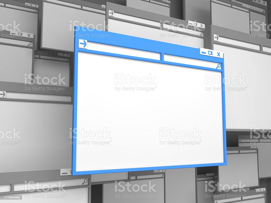 Blue Computer window. royalty-free stock photo