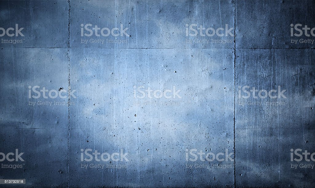 Blue concrete wall background stock photo