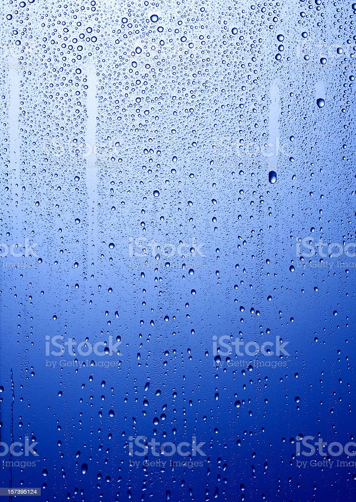 Blue condensation royalty-free stock photo