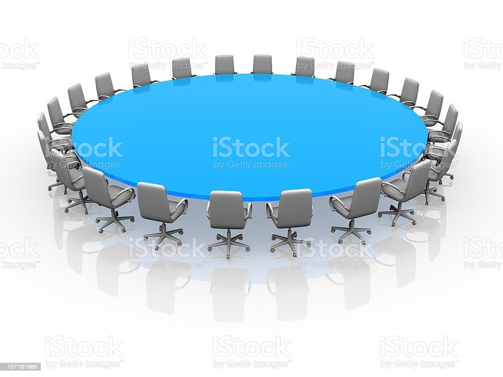 Blue Conference Table royalty-free stock photo
