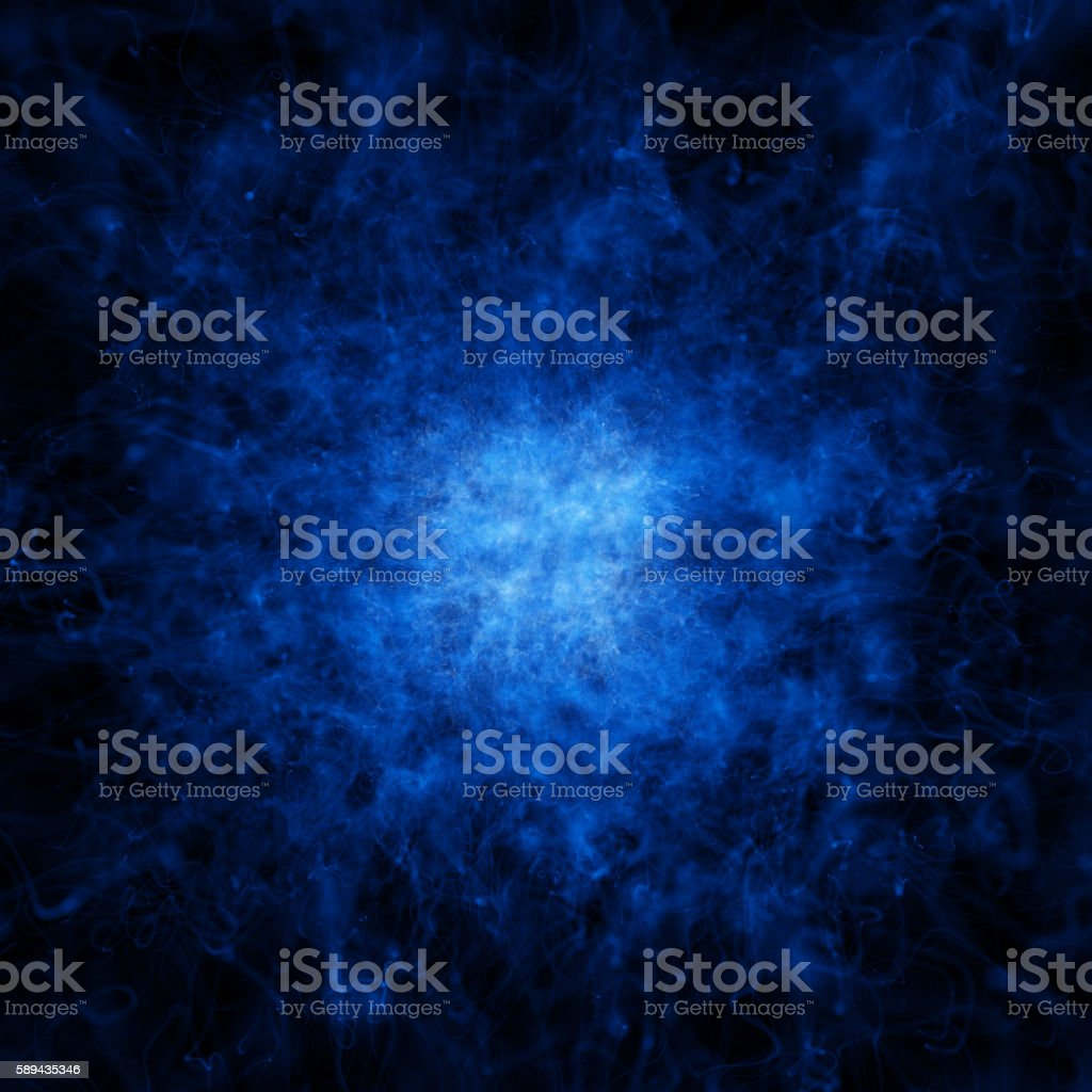 blue confluence of particles stock photo