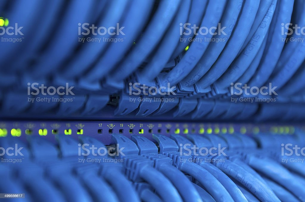 Blue Connections stock photo