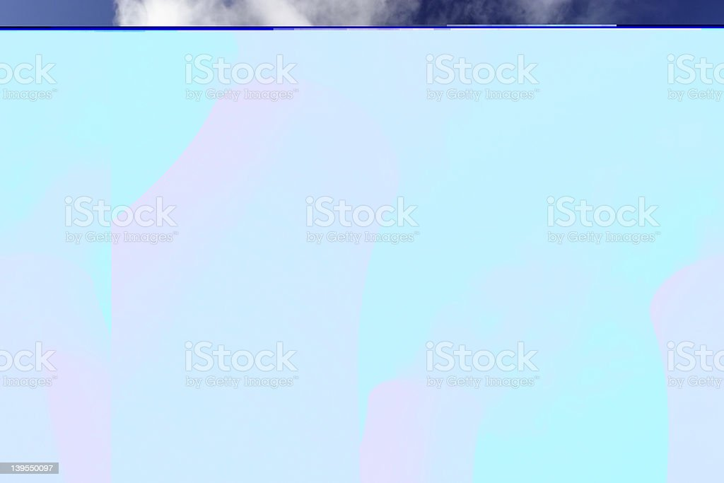 Blue cooling towers background royalty-free stock photo