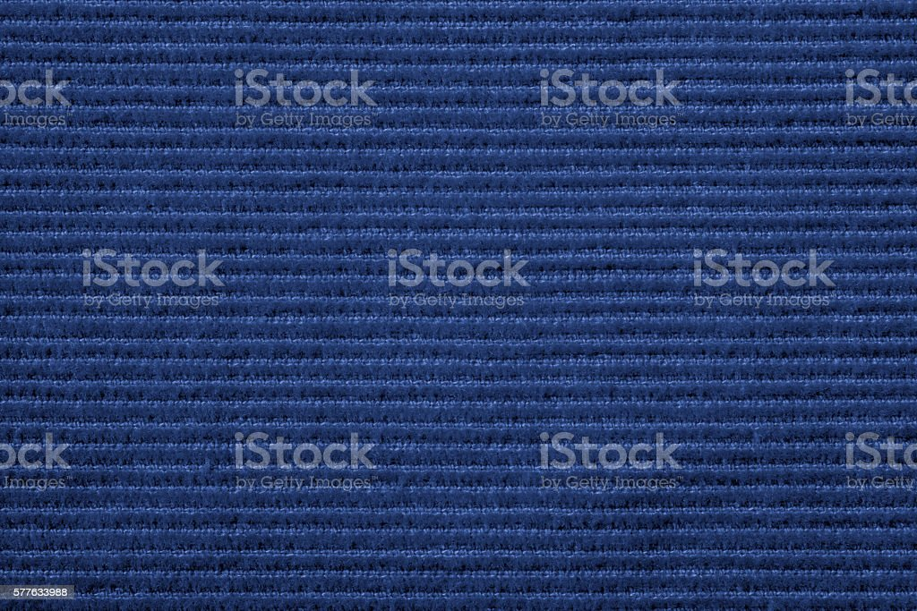 Blue corduroy texture stock photo