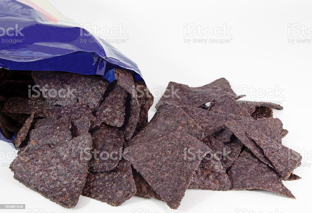 Blue Corn Chips stock photo