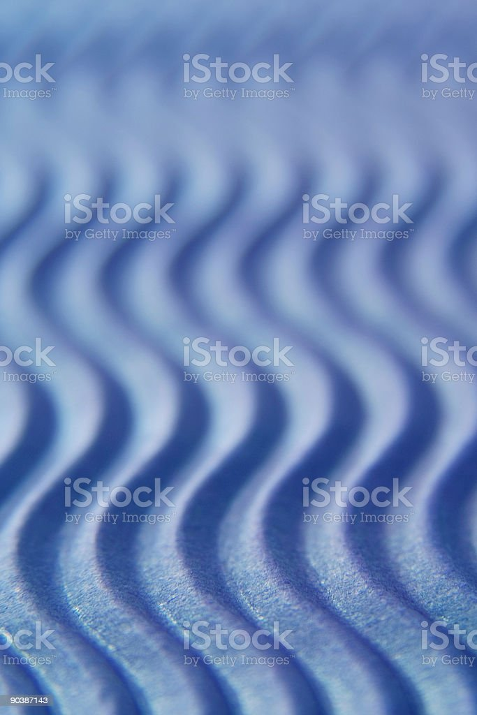 Blue corrugated card - vertical royalty-free stock photo