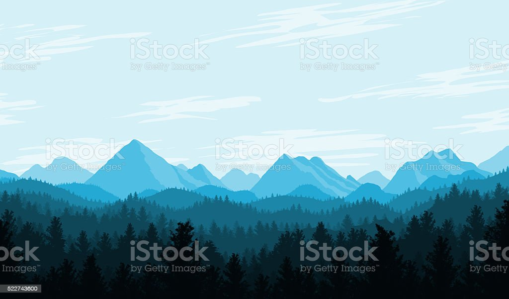Blue Country Flat Landscape stock photo