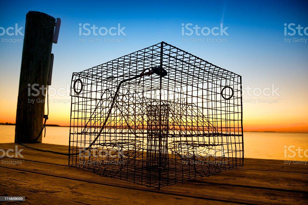 Blue Crab Traps Sunrise Dock Maryland Chesapeake Bay Wye River royalty-free stock photo