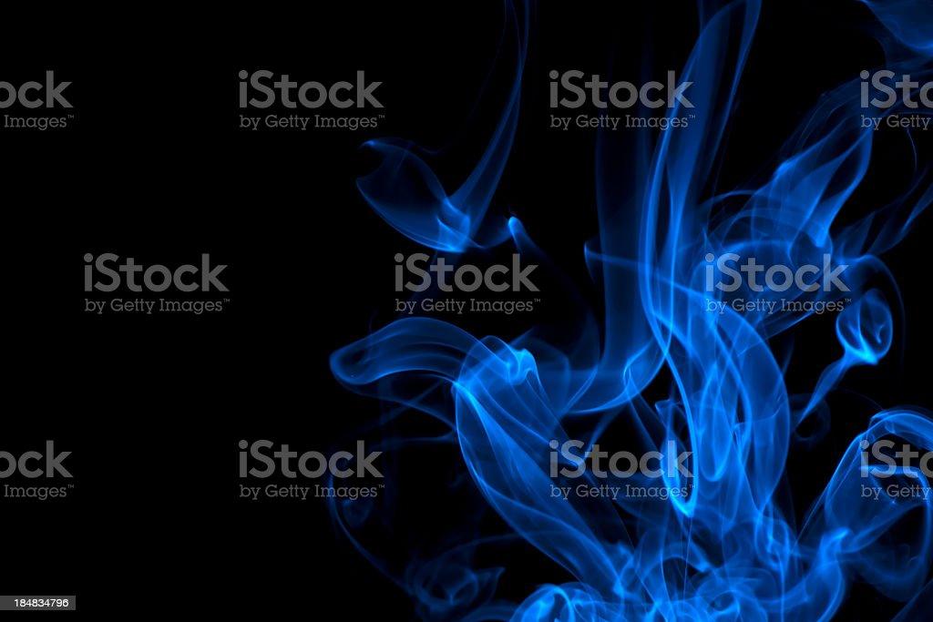 blue, creative abstract vitality impact smoke photo stock photo