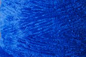 Blue Crochet  Velvet Yarn Threads close-up shot background texture