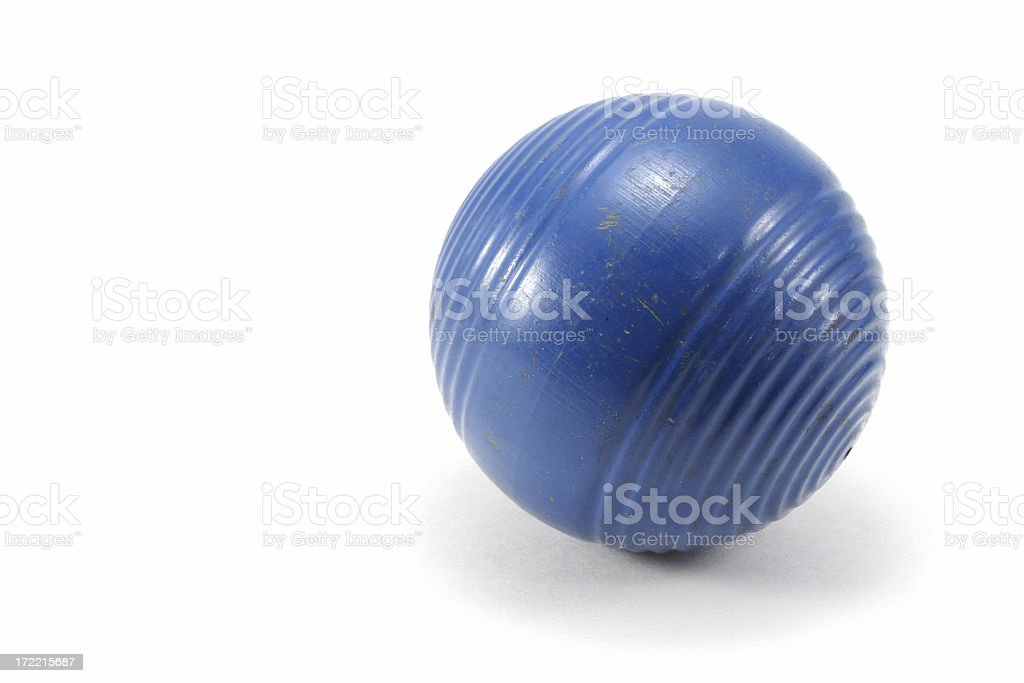 Blue Croquet Ball stock photo