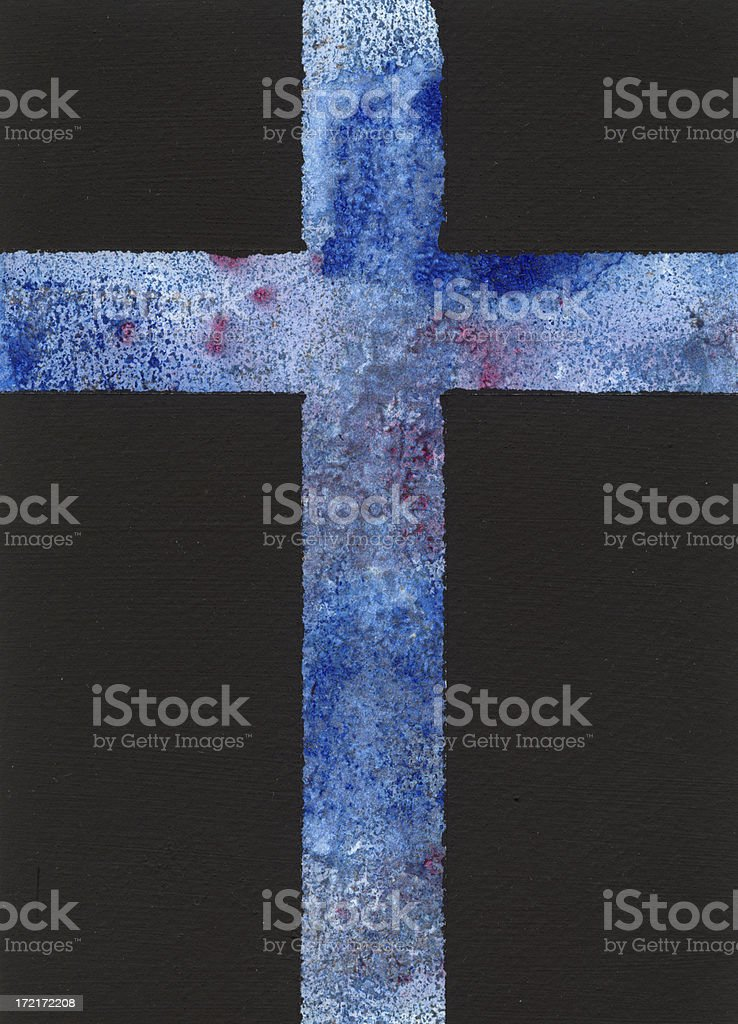 Blue Cross stock photo