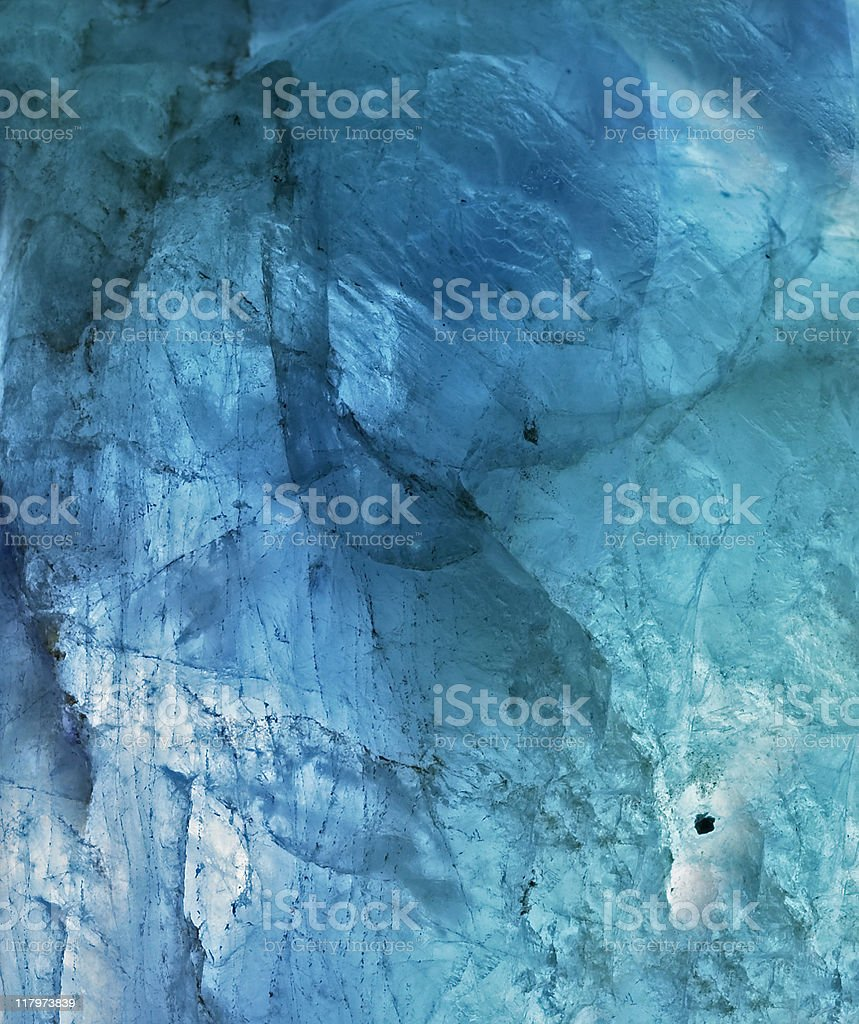 blue crystal detail stock photo