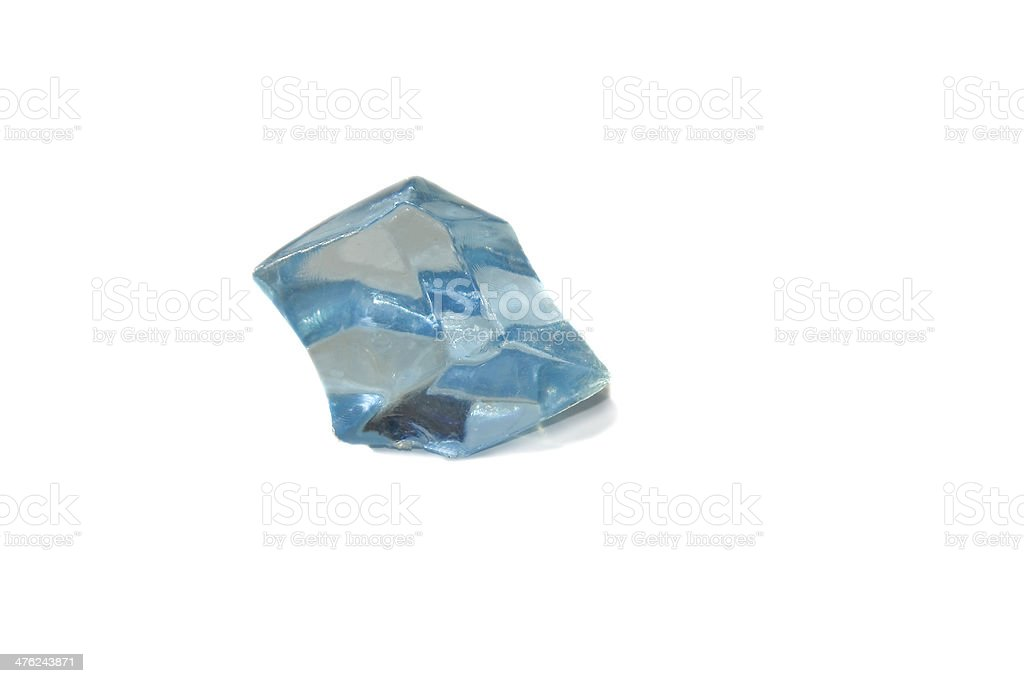 Blue crystal isolated over white royalty-free stock photo