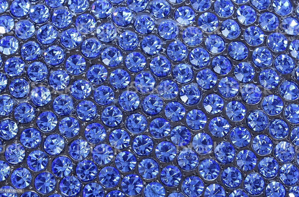 blue crystals stock photo