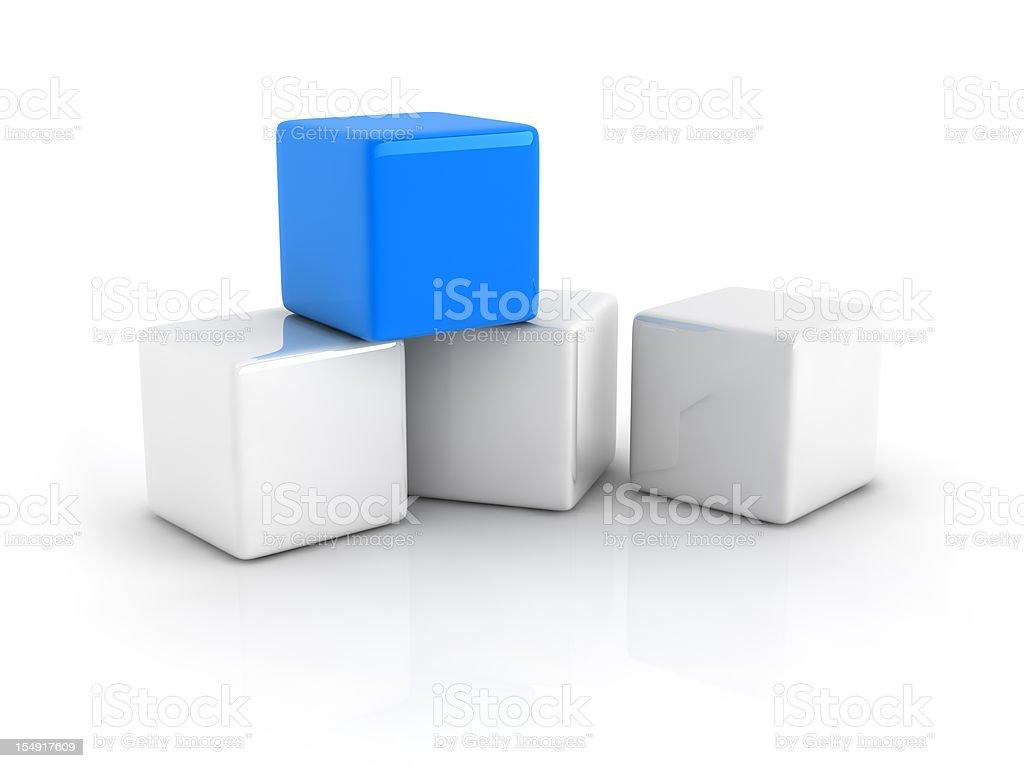 blue cube royalty-free stock photo