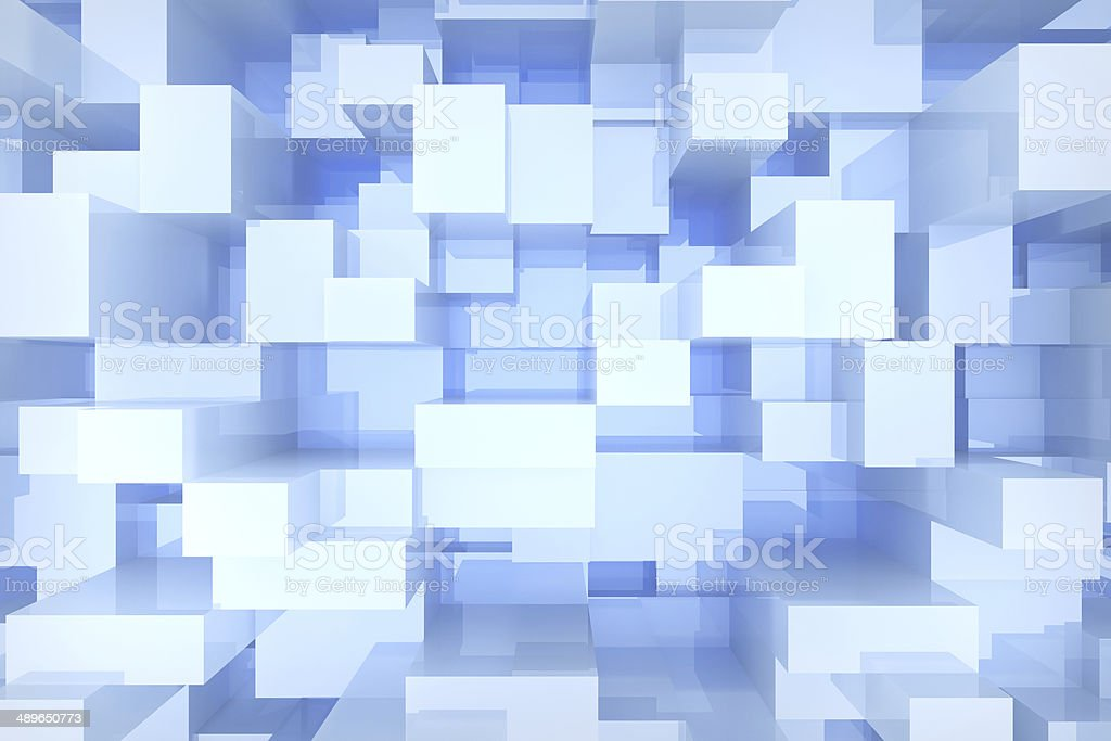 blue cubes background royalty-free stock photo