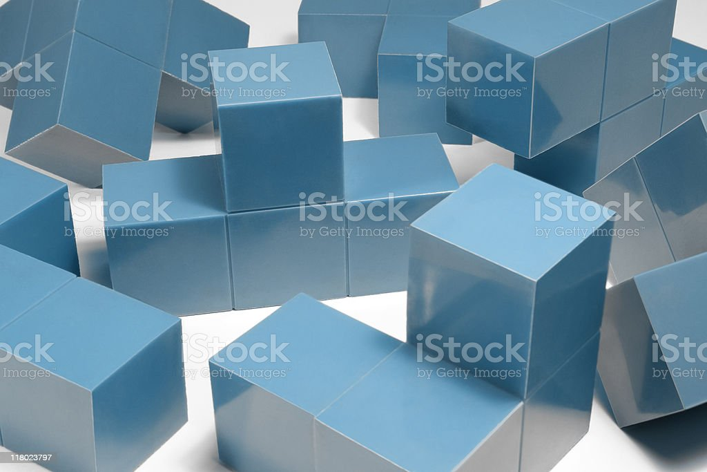blue cubic objects royalty-free stock photo