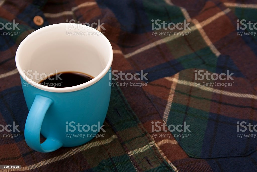 Blue cup from coffee royalty-free stock photo