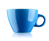 Blue cup with handle
