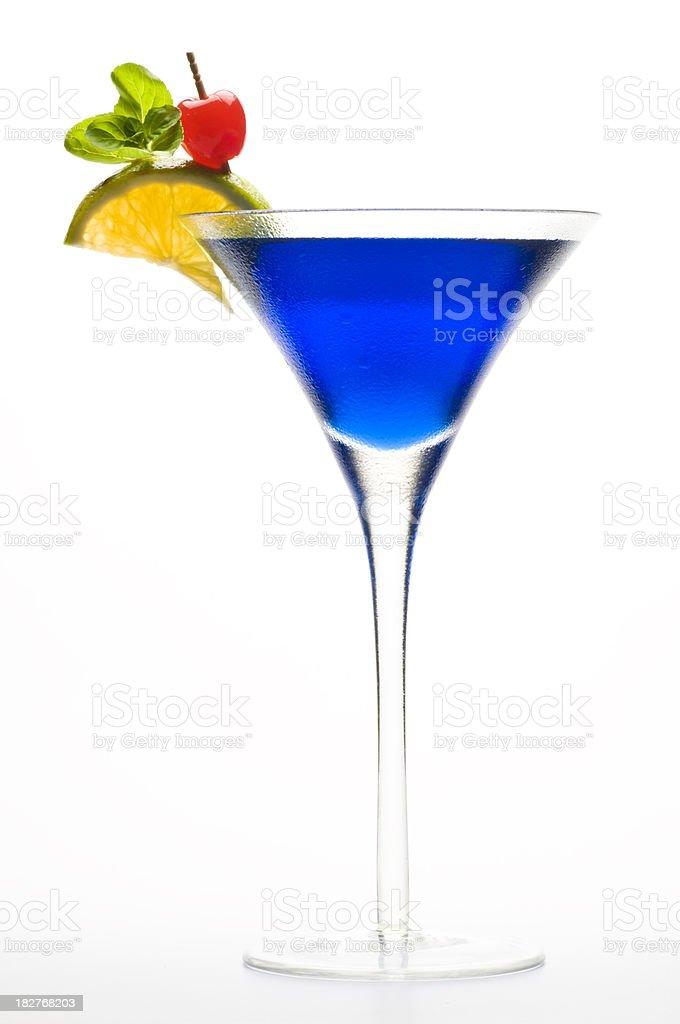 Blue Curacao Cocktail stock photo