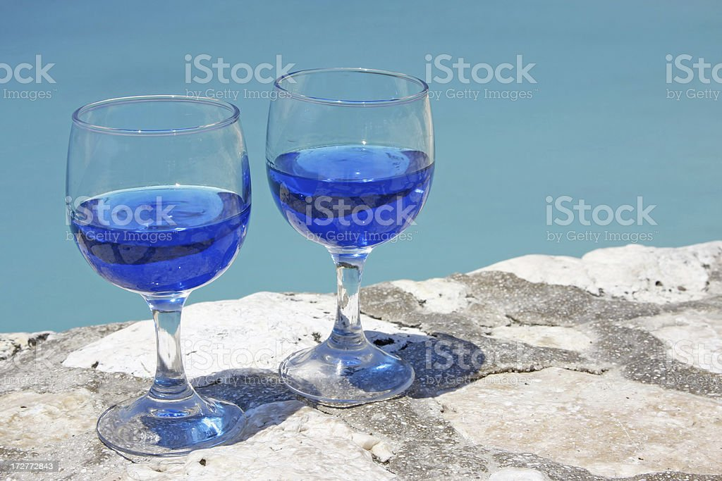 Blue Curacao liquer # 1 stock photo