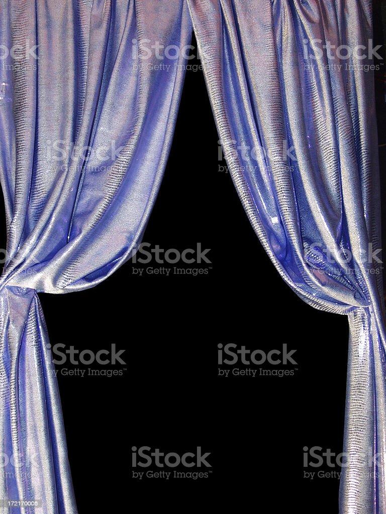 blue curtain w/path royalty-free stock photo