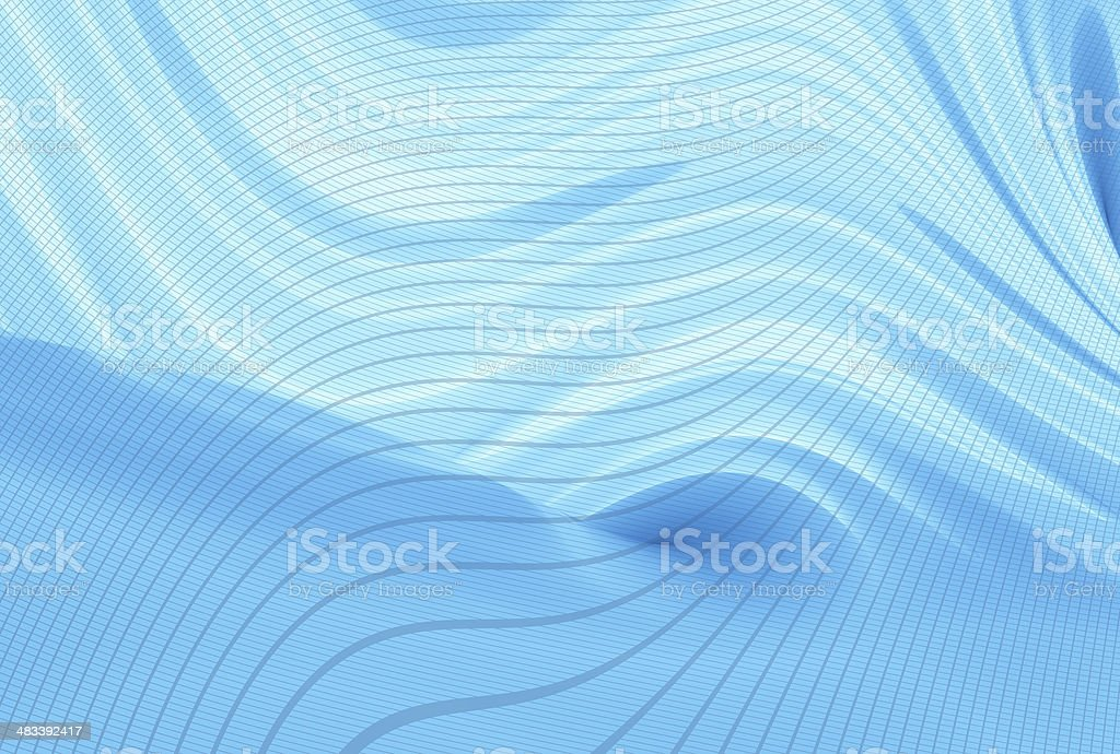 Blue curve 02 royalty-free stock photo