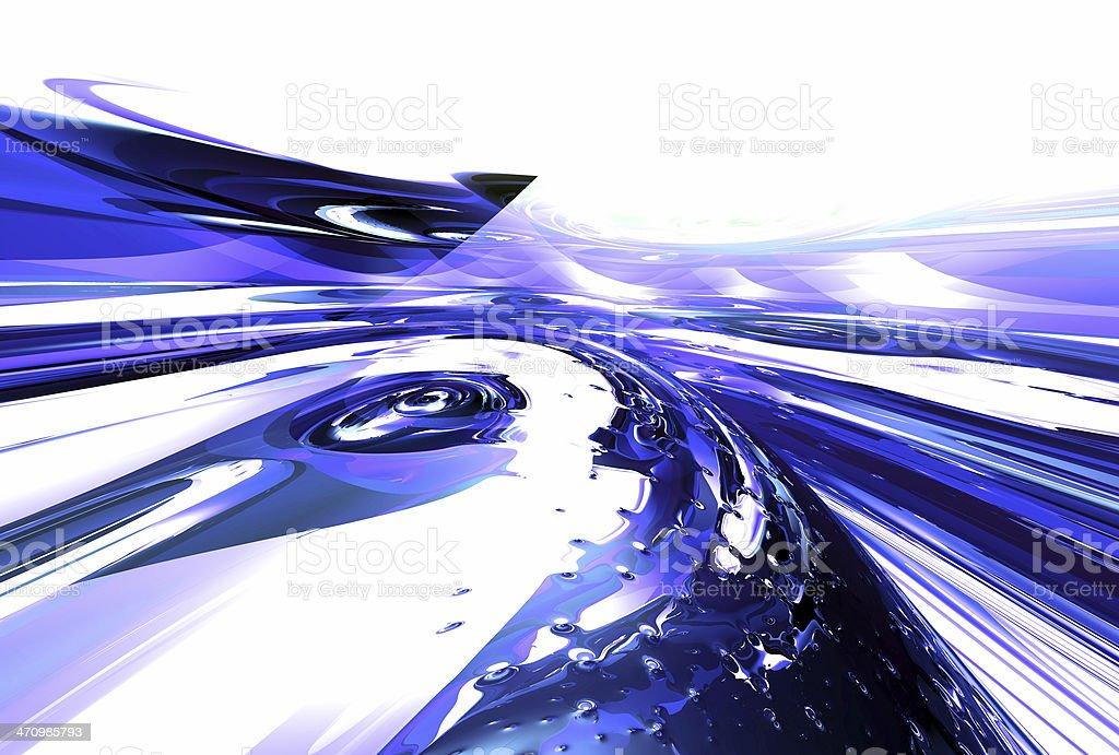 blue curve stock photo