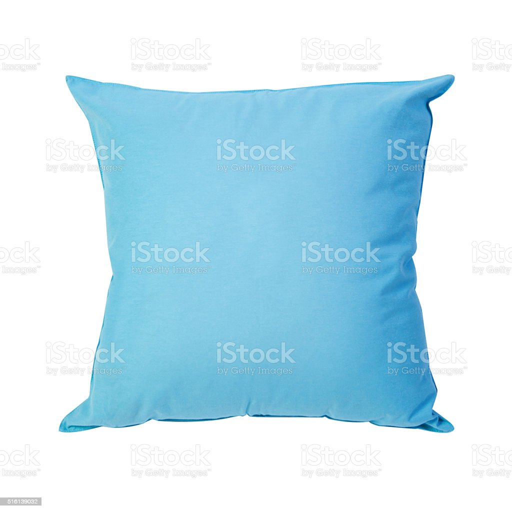 blue cushions stock photo