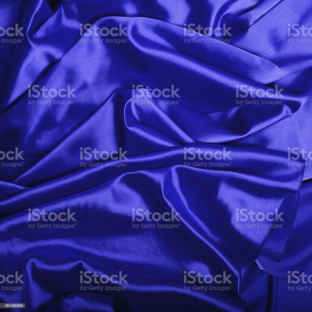 Blue dark silk background royalty-free stock photo