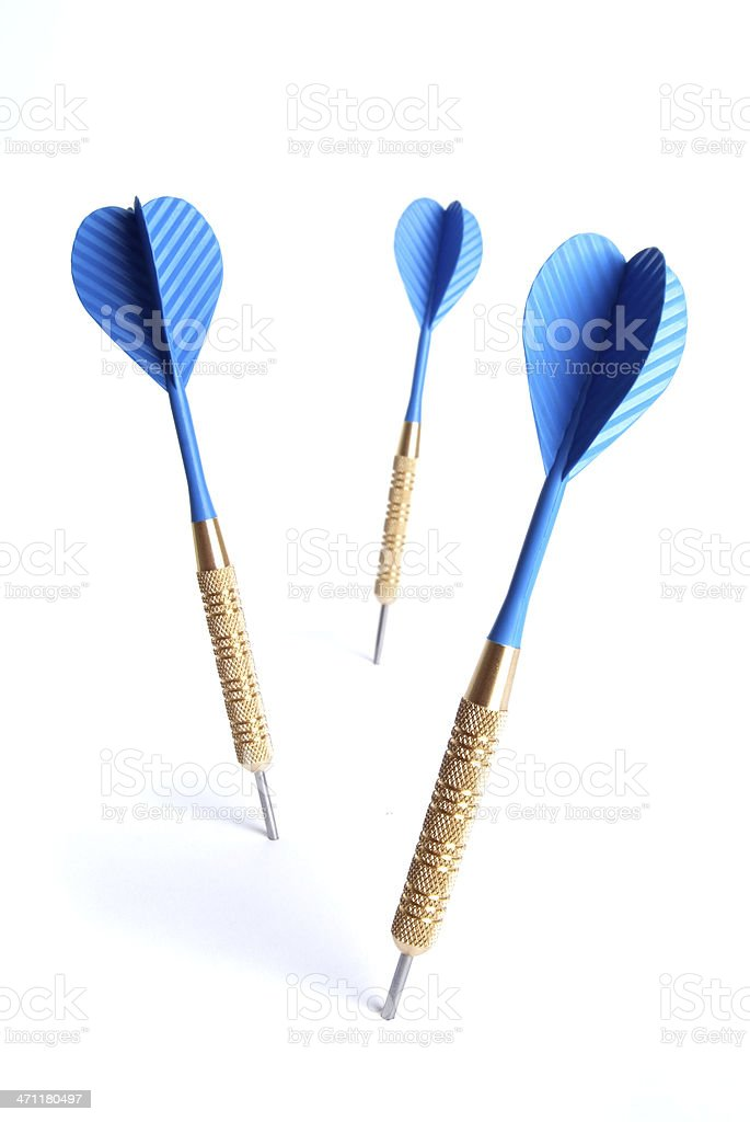 Blue Dart royalty-free stock photo