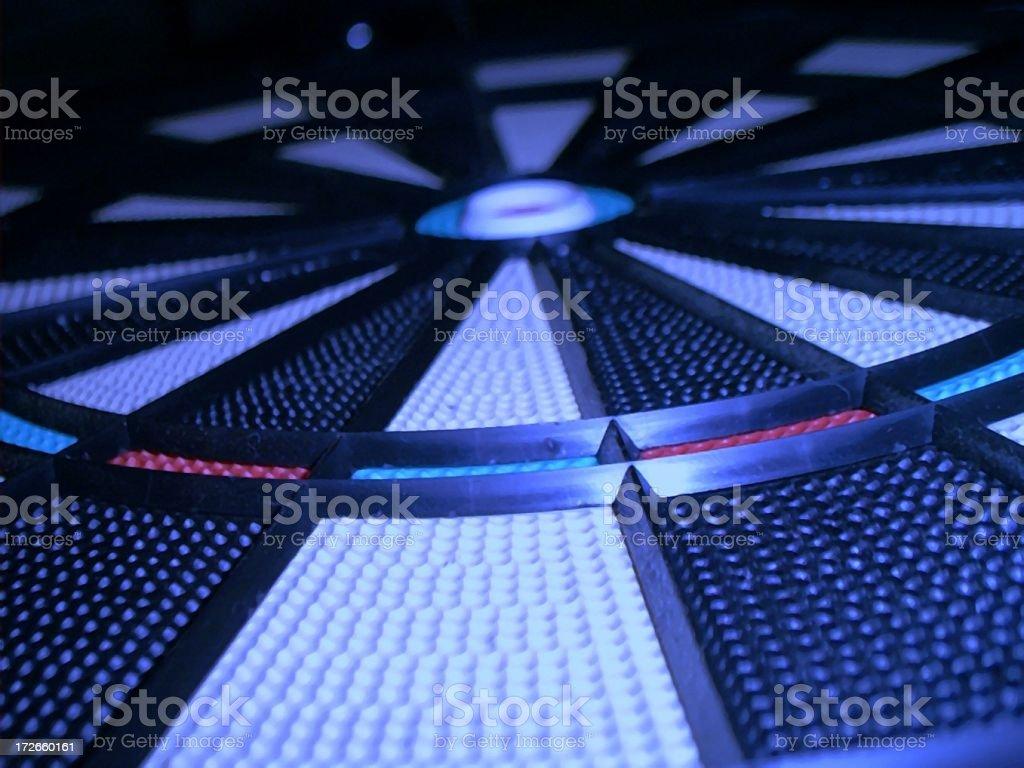 Blue Dartboard royalty-free stock photo