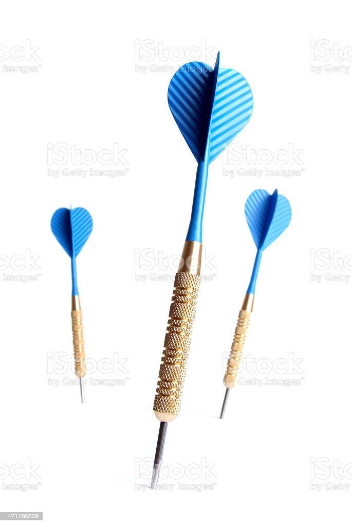 Blue Darts royalty-free stock photo