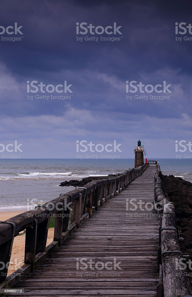 Blue day-Capbreton stock photo