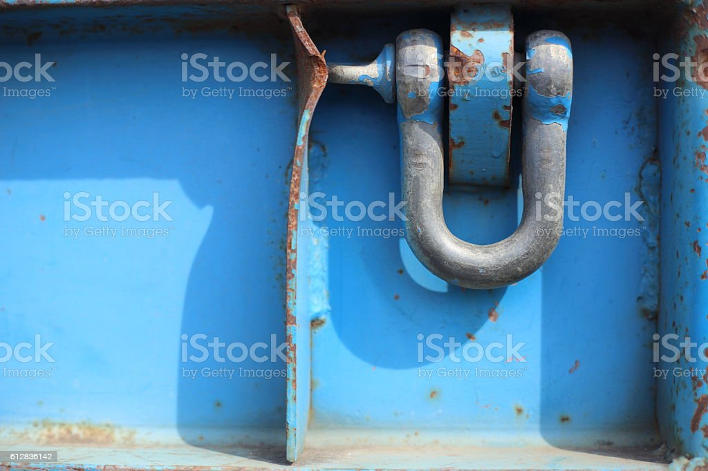 Blue Dee Shackle stock photo