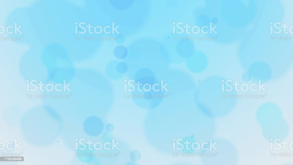 Blue Defocused Particles royalty-free stock photo