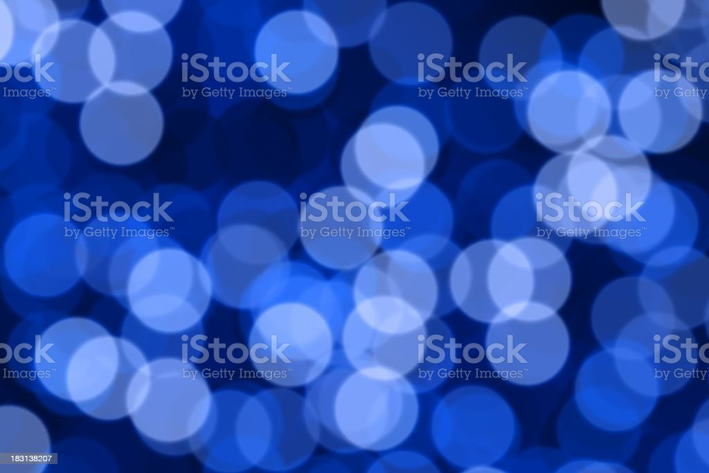 Blue Defocused (Holiday Background) royalty-free stock photo