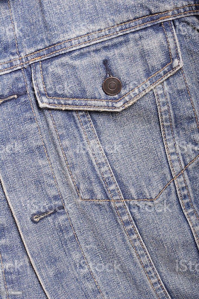 Blue Denim Jacket Pocket royalty-free stock photo