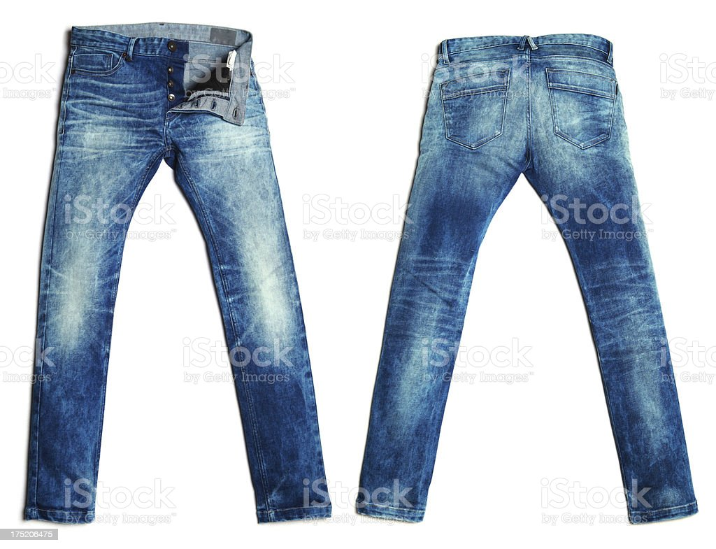 Blue Denim Jeans Pants stock photo