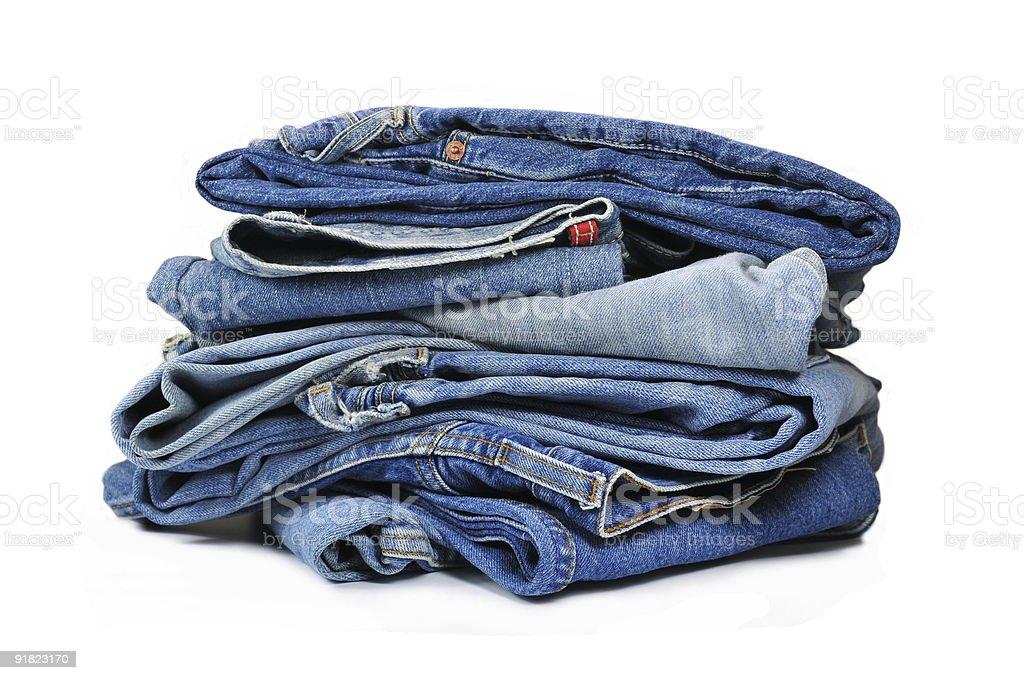 Blue Denim Jeans stock photo