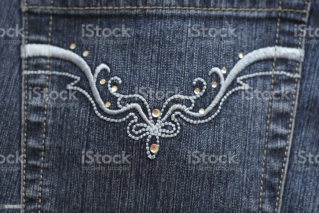 Blue Denim Jeans Pocket royalty-free stock photo