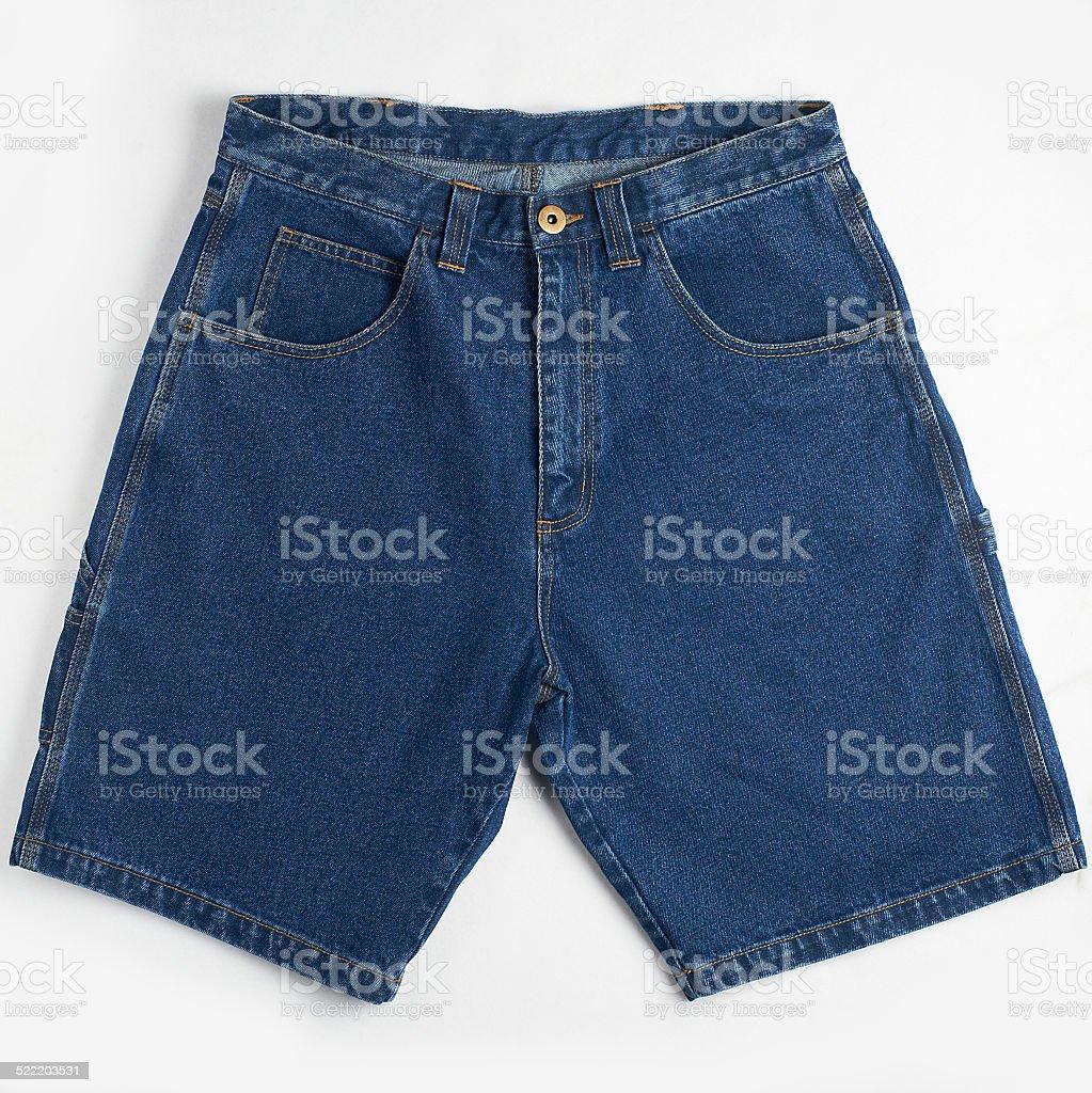 Blue denim jeans short stock photo
