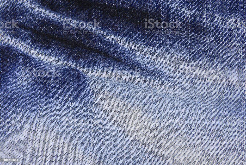Blue denim jeans  texture royalty-free stock photo