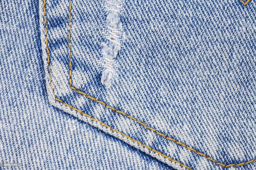 Blue denim jeans texture royalty-free stock photo