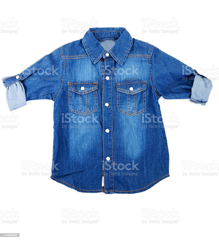 blue denim shirt stock photo