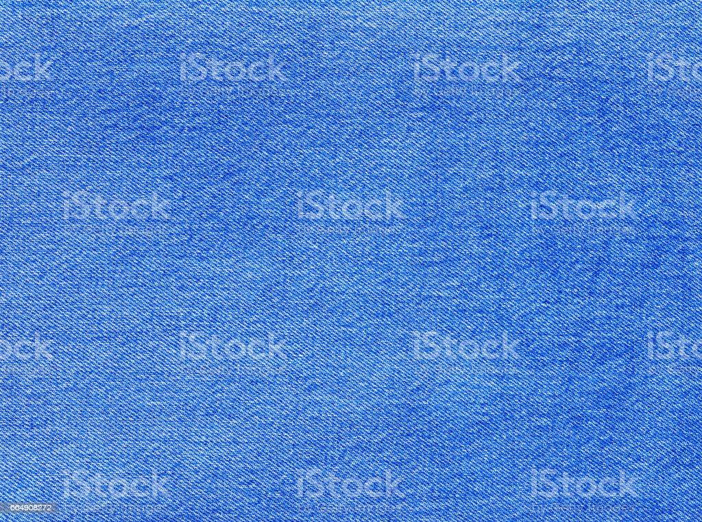 Blue denim textile texture. stock photo